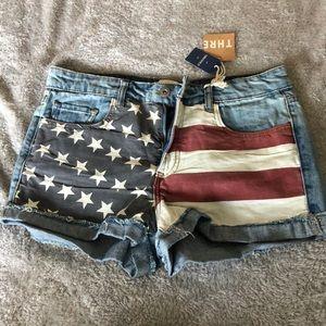 Forever 21 American flag shorts
